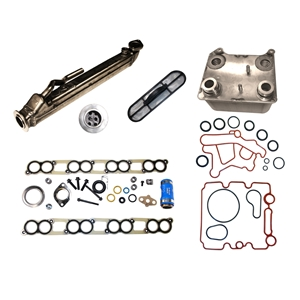 Ford 6.0L Power Stroke EGR and Oil Cooler Kit 2004-2010 (4C3Z9P456AJ) egr, cooler, oil, oil cooler, egr cooler, kit, includes gaskets, ford, power, stroke, 6.0l, 6.0, 2004, 2010, OEM, Part, Numbers,4C3Z9P456AJ, 4C3Z9P456AC, 4C3Z9P456AH, 4C3Z9P456AJ,1845145C99, AP63446,522-026,4E-2001