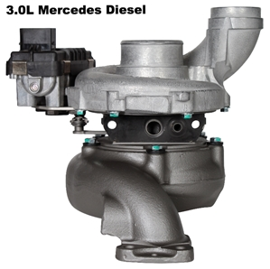 Mercedes 3.0L Diesel Turbocharger (New) mercedes diesel turbo, sprinter turbo, 3.0 turbo, 3.0l turbo, turbocharger, 3.0 turbocharger, mercedes, freightliner